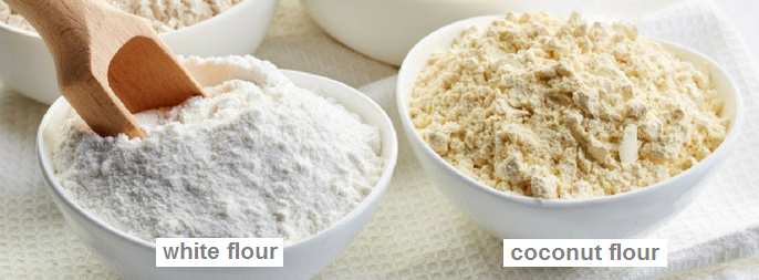 white flour vs coconut flour